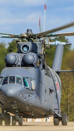 Mi-26, military transport helicopter, Russian Army (vertical)