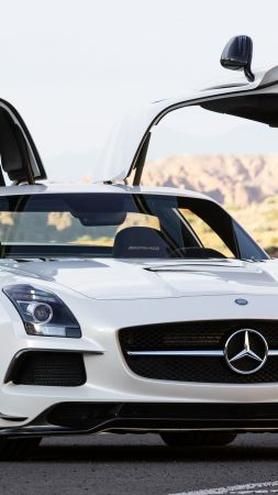 Mercedes-Benz SLS 63 AMG Black Series, sport car, review, buy, rent (vertical)