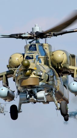 Mi-28, Attack helicopter, Russian Army (vertical)