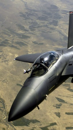 F-15, tactical fighter, Eagle, McDonnell Douglas, US Army, U.S. Air Force, aircraft (vertical)