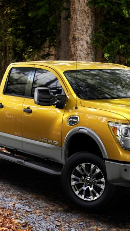 Nissan Titan, pickup, SUV, yellow, 2016 (vertical)