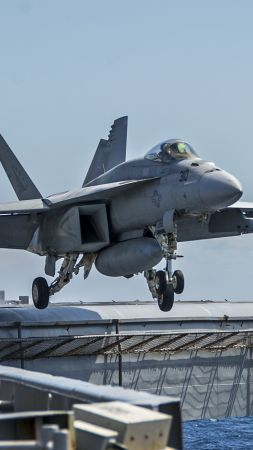F/A-18E Super Hornet, George Washington, fighter, aircraft, US Army, US Navy (vertical)