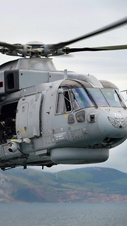 EH-101 Merlin, transport helicopter, Italian Navy (vertical)
