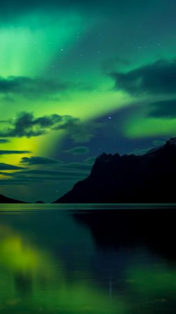 Aurora Borealis, Abisko, Sweden, tourism, travel, green, lake, National Park