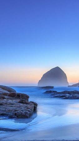 Oregon, 5k, 4k wallpaper, Pacific Ocean, USA, Best Beaches in the World, travel, tourism, sea, sunset, sunrise, beach (vertical)