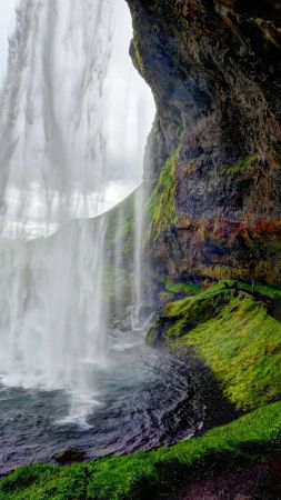 Seljalandsfoss, Iceland, waterfall, travel, tourism