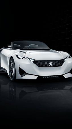 Peugeot Fractal, electric cars, white, black (vertical)