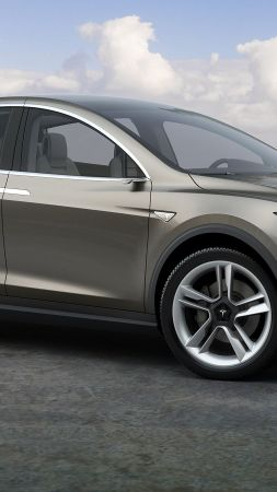 Tesla model x, electric cars, suv, 2016 (vertical)