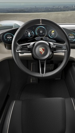 Porsche Mission E, Electric Cars, supercar, 800v, interior (vertical)