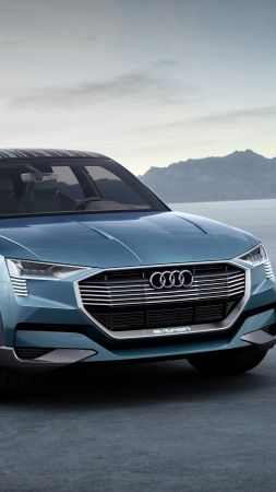 Audi e-tron quattro, electric cars, SUV, green (vertical)