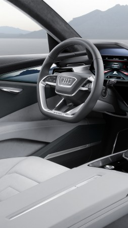 Audi e-tron quattro, electric cars, SUV, interior (vertical)