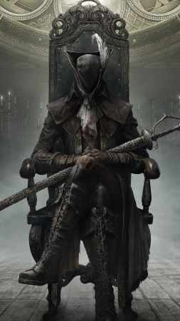Bloodborne: The Old Hunters : Hunter, Action, Role Playing (RPG), PS4, Fantasy, Horror, Best Game (vertical)