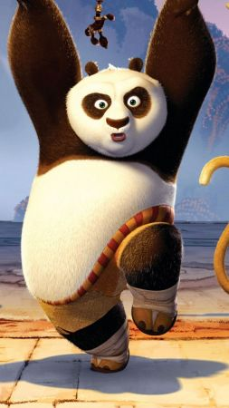 Kung Fu Panda 3, Po, Tigrees, Monkey (vertical)