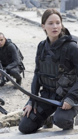 The Hunger Games, Mockingjay - Part 2, katniss, movie, Jennifer Lawrence (vertical)