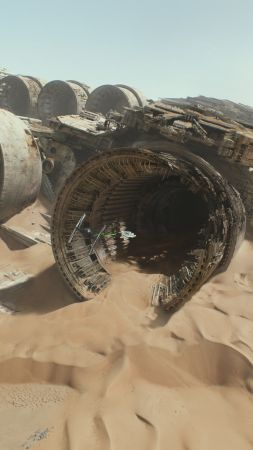 Star Wars: Episode VII - The Force Awakens, spaceship, desert (vertical)