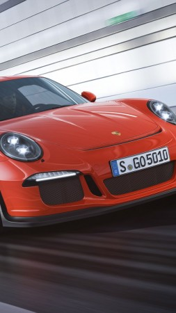 Porche 911 GT3, red,  (vertical)