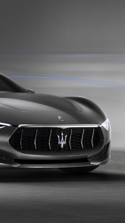 Maserati Alfieri, supercar, Maserati, luxury cars, sports car, speed, concept, side, 2015 Detroit Auto Show, NAIAS, Frankfurt 2015