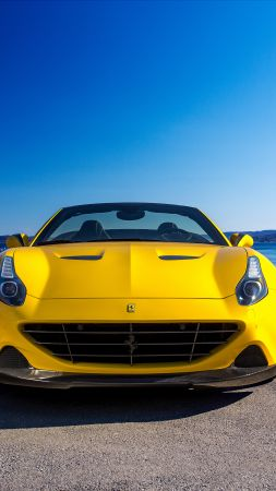 Ferrari California T, Novitec Rosso, yellow, supercar 2016 (vertical)