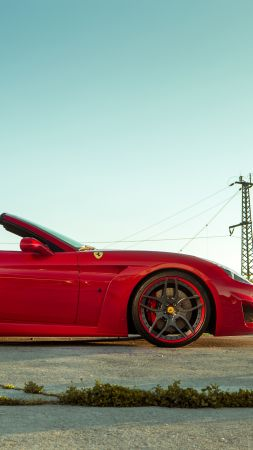Ferrari California T N-largo, Novitec Rosso, red, supercar 2016 (vertical)