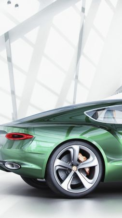 Bentley EXP 10, SPEED 6, luxury car, coupe, hybrid, green (vertical)