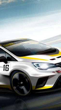 Opel Astra TCR 7, sport cars, Opel, racing, leather, test, Frankfurt 2015 (vertical)