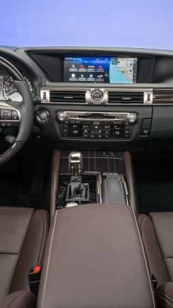 Lexus GS350, interior, Lexus, leather, test (vertical)