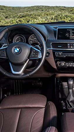 BMW X1, coupe, interior, crossover, luxury cars, SUV, xDrive, sDrive, Frankfurt 2015 (vertical)