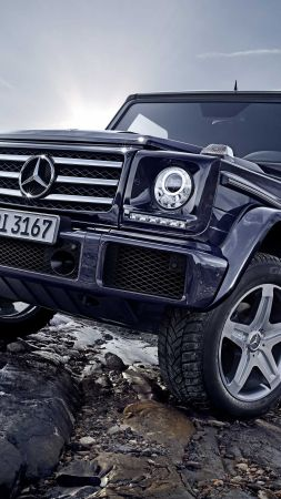 Mercedes-Benz G 500, SUV, Mercedes, G-Class, off-road, black, luxury cars (vertical)