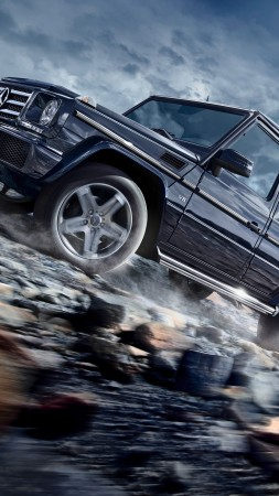 Mercedes-Benz G 500, SUV, Mercedes, G-Class, off-road, luxury cars (vertical)