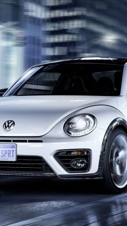 Volkswagen Beetle, R-Line, white, Concept, cars 2016 (vertical)