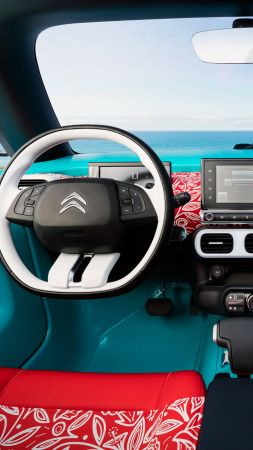 Citroen Cactus M, hybrid, Citroen, interior, crossover, 2015 car, concept, supercar, luxury cars, cars of 2016 (vertical)
