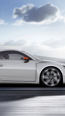Audi TT Clubsport Turbo, concept, audi, sports car, racing, white