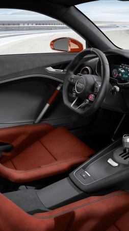 Audi TT Clubsport Turbo, concept, audi, sports car, racing, interior (vertical)