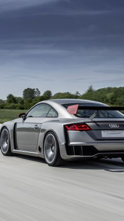 Audi TT Clubsport Turbo, concept, audi, sports car, racing, white, cars 2016
