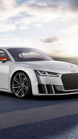 Audi TT Clubsport Turbo, concept, audi, sports car, racing, white (vertical)