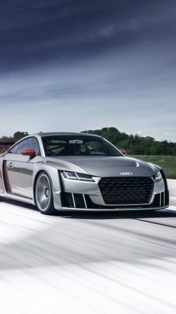 Audi TT Clubsport Turbo, concept, audi, sports car, racing, white, cars 2016 (vertical)
