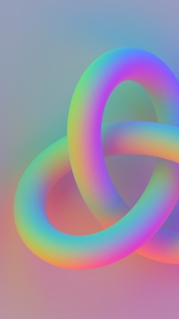 torus, 4k, 5k wallpaper, knot, 3d, pink (vertical)