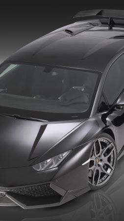 Lamborghini Huracan LP610-4, supercar, black, luxury cars, sports car, test drive (vertical)