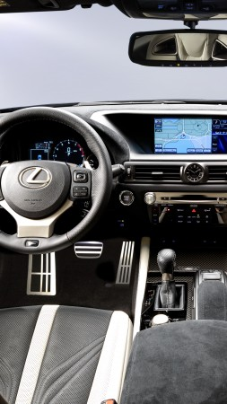 Lexus GS F, supercar, interior, luxury cars, test drive (vertical)