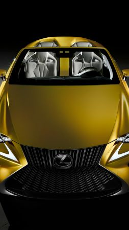 Lexus LF-C2, supercar, concept, gold, luxury cars, test drive (vertical)