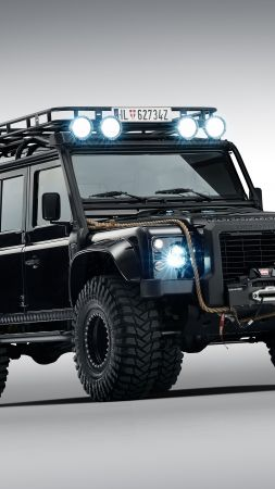 Land Rover Defender 110, 007 Spectre movie (vertical)