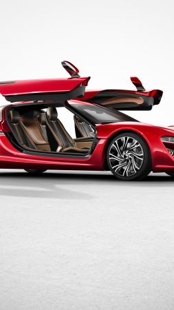 NanoFlowcell QUANT F, concept, hybrid, hatchback, red (vertical)