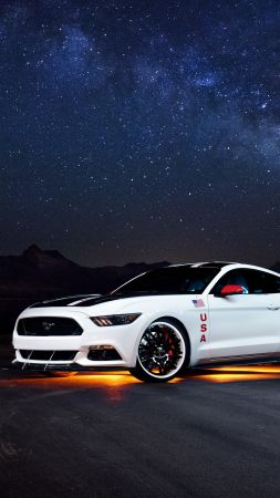 Ford Mustang Apollo Edition, mustang, white, sport cars (vertical)