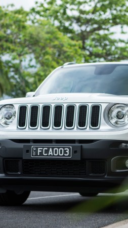 Jeep Renegade Limited, white, SUV (vertical)
