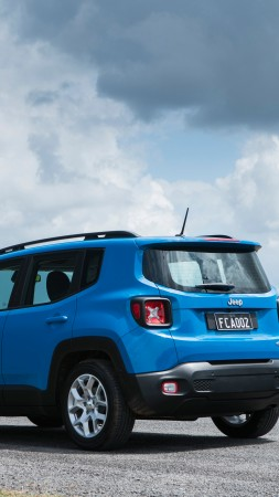 Jeep Renegade Longitude, blue, SUV (vertical)