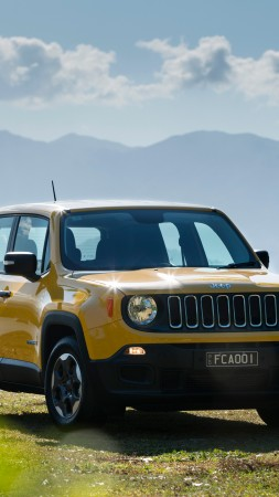 Jeep Renegade Sport, yellow, SUV (vertical)