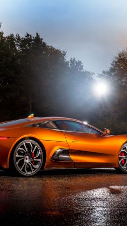 Jaguar C-X75, 007 Spectre, james bond, orange, spectre (vertical)