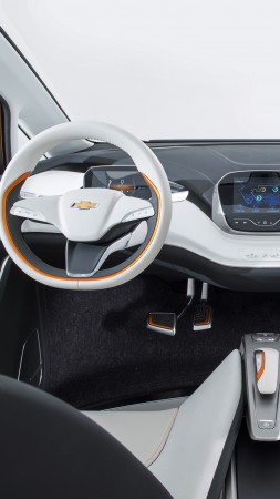 Chevrolet Bolt EV, interior, Chevy, electrocar, electric cars, LG-mobile, concept (vertical)