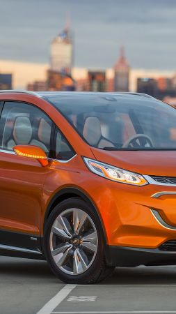Chevrolet Bolt EV, Chevy, electrocar, electric cars, LG-mobile, concept (vertical)