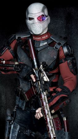 Deadshot, Suicide Squad, Will Smith, mask (vertical)
